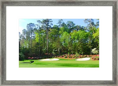 Augusta National - Hole 13 Framed Print by Bo  Watson