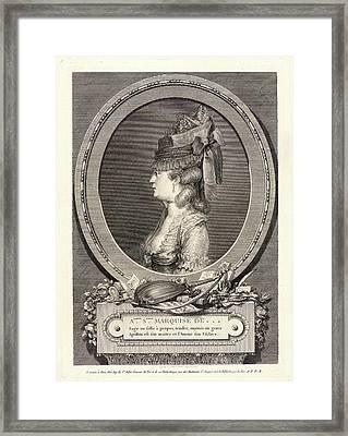 Augustin De Saint-aubin French, 1736 - 1807. Portrait Framed Print