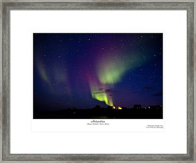 Aurora Australis Framed Print by David Barringhaus