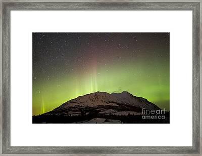 Aurora Borealis And Milky Way Framed Print by Joseph Bradley