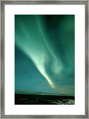Aurora Borealis Display Seen From Northern Norway Framed Print by Pekka Parviainen/science Photo Library