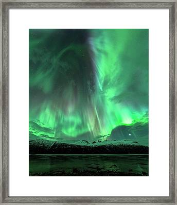 Aurora Borealis During Geomagnetic Storm Framed Print by Tommy Eliassen
