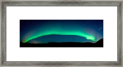 Aurora Borealis Or Northern Lights, Vik Framed Print