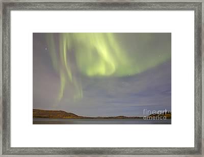 Aurora Borealis With Big Dipper Framed Print by Joseph Bradley