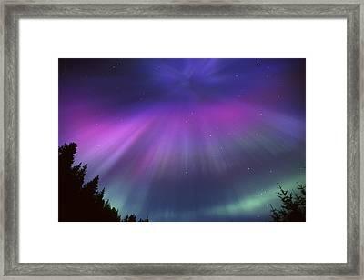 Aurora Corona Over Crow Creek Girdwood Framed Print