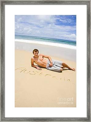 Aussie Fellow Framed Print by Jorgo Photography - Wall Art Gallery