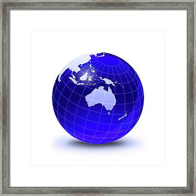 Australasia, Artwork Framed Print by Leonello Calvetti