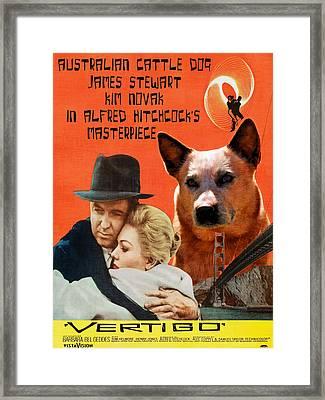 Australian Cattle Dog Art Canvas Print Framed Print by Sandra Sij