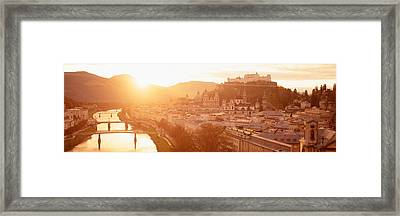 Austria, Salzburg, Salzach River Framed Print by Panoramic Images