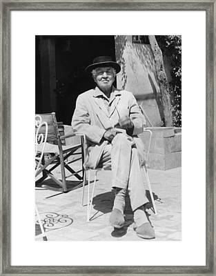 Author Robert Graves Framed Print by Underwood Archives