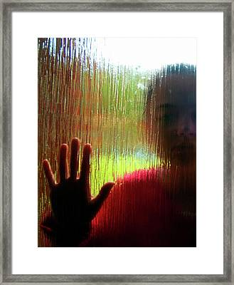 Autistic Girl Framed Print by Hannah Gal