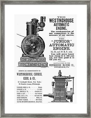 Automatic Engine, 1886 Framed Print