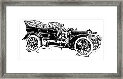 Automobile, 1907 Framed Print by Granger