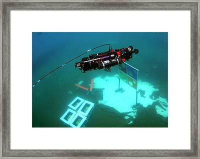 Autonomous Underwater Vehicle Competition Framed Print by U.s. Navy