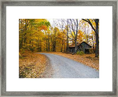 Autumn And The Old House Framed Print