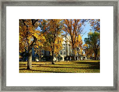 Autumn At The Courthouse Framed Print