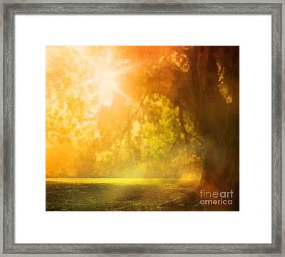 Autumn Background Framed Print by Mythja  Photography