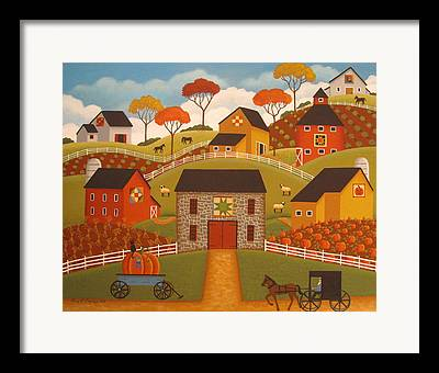 Quilt Barns Framed Prints