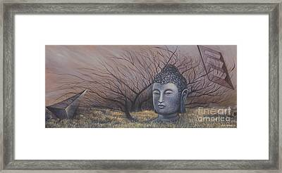 Autumn Buddha Framed Print