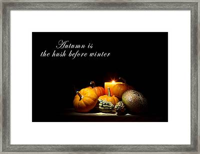 Autumn Framed Print by Cecil Fuselier