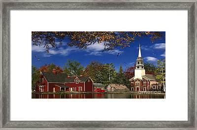 Autumn Church Row Framed Print