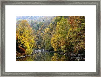 Autumn Elk River Framed Print by Thomas R Fletcher