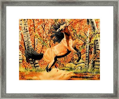 Autumn Frolick Framed Print