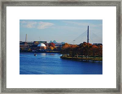 Autumn In Boston Framed Print by Toby McGuire