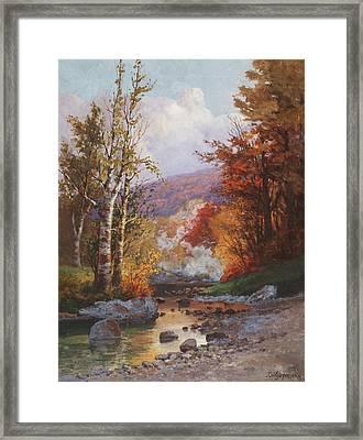 Autumn In The Berkshires Framed Print by Christian Jorgensen