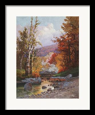 Autumn In The Country Paintings Framed Prints