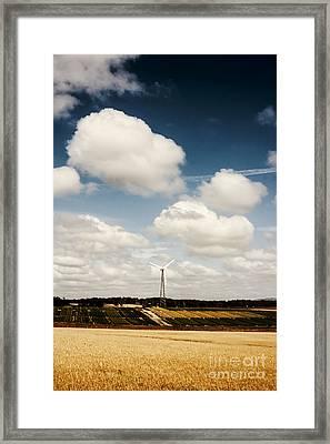 Autumn Landscape Of A Sustainable Tasmanian Farm Framed Print by Jorgo Photography - Wall Art Gallery