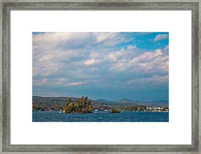Autumn On Lake George Framed Print by David Patterson