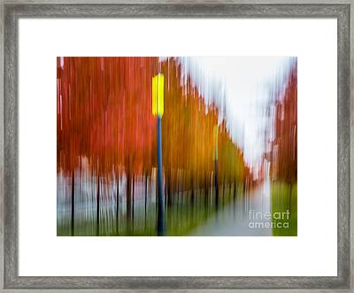 Autumn Park 1 Framed Print by Susan Cole Kelly Impressions