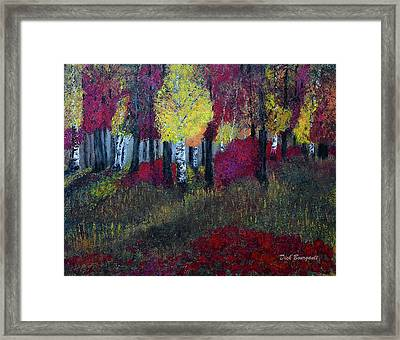 Autumn Peak Framed Print