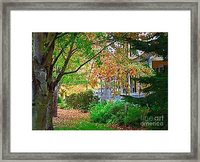 Autumn Porch Framed Print by Kirt Tisdale