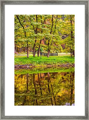Autumn Reflection Framed Print by Steve Harrington