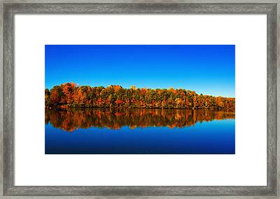Framed Print featuring the photograph Autumn Reflections by Andy Lawless