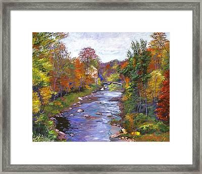 Autumn River Framed Print by David Lloyd Glover