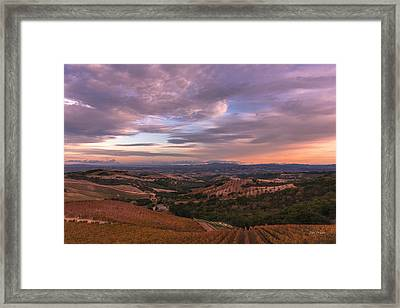 Autumn Sky Framed Print