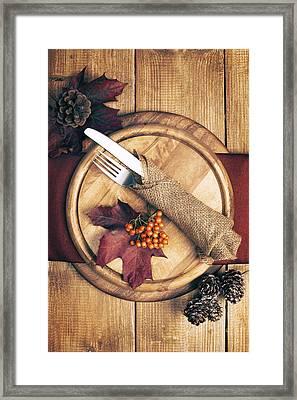 Autumn Table Setting Framed Print