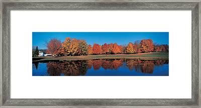Autumn Trees Laurentide Quebec Canada Framed Print