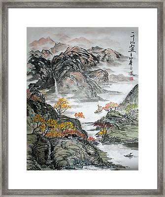 Framed Print featuring the painting Autumn  by Yufeng Wang