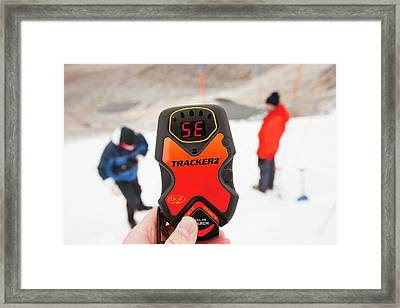 Avalanche Transceivers Framed Print by Ashley Cooper