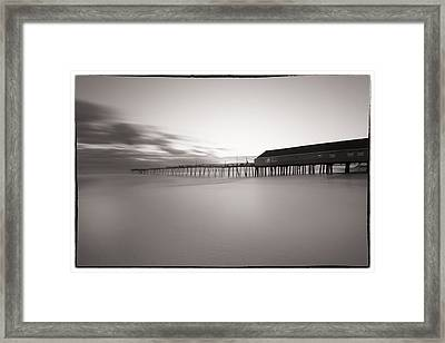Avalon Fishing Pier Framed Print