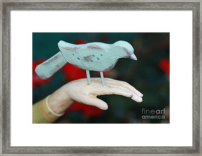 Avian On Hand Framed Print