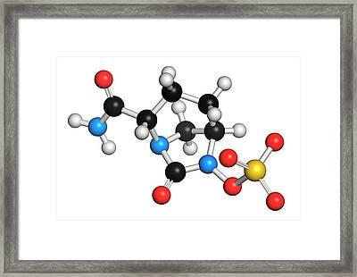 Avibactam Drug Molecule Framed Print by Molekuul