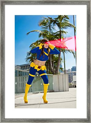 Awesome X-man Cyclops Framed Print by Andreas Schneider