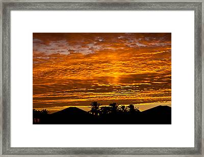 1 Awsome Sunset Framed Print