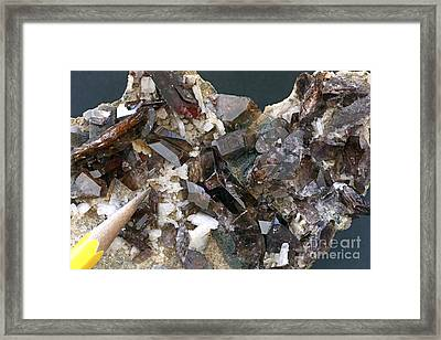 Axinite Mineral Sample Framed Print by Dirk Wiersma