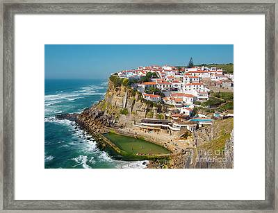 Azenhas Do Mar Framed Print by Carlos Caetano